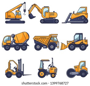 Illustration of truck construction as a set