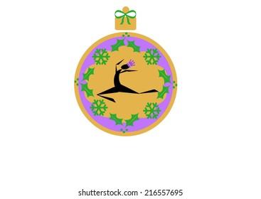 illustration of twelve days of Christmas ornament