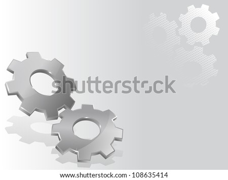 Illustration with two 3d gears