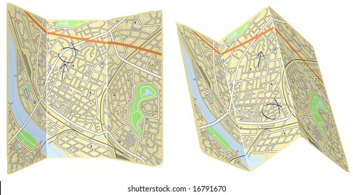 Illustration of two folded generic maps with no names