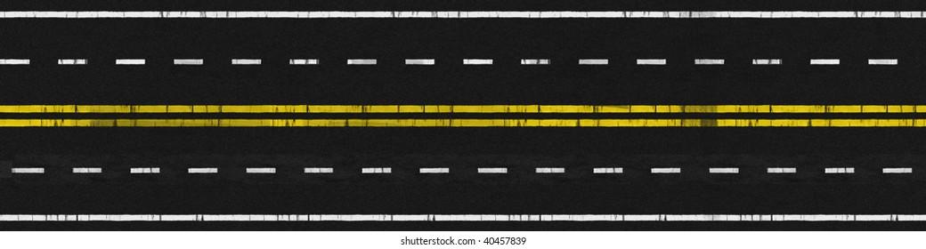 Illustration of Used 4 Lanes Paved Road