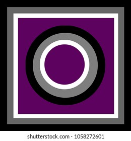 An illustration using the asexual pride colors.