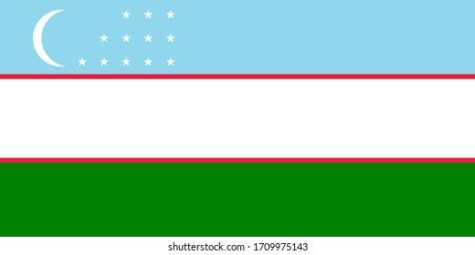 an illustration of Uzbekistan flag