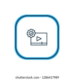 illustration of video maker icon line. Beautiful activities element also can be used as cinematography icon element.