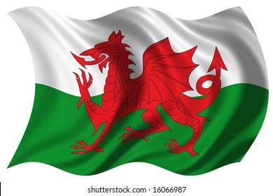 illustration of wales flag