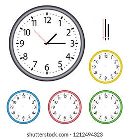 Illustration of a wall clock complete with hands