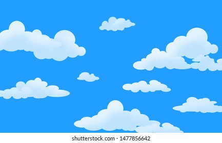 illustration wallpaper white clouds on blue sky in summer