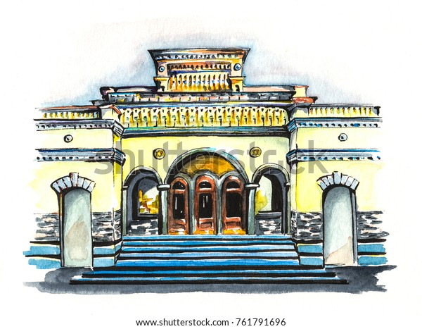 Illustration Watercolors Liners Central Synagogue Brodsky