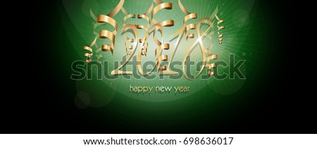 illustration of web banner to happy new year 2018