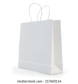 illustration of a white paper bag