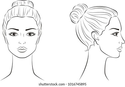 woman face outline images  stock photos  u0026 vectors