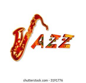 Illustration of the word Jazz