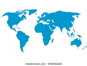 illustration of a world country map