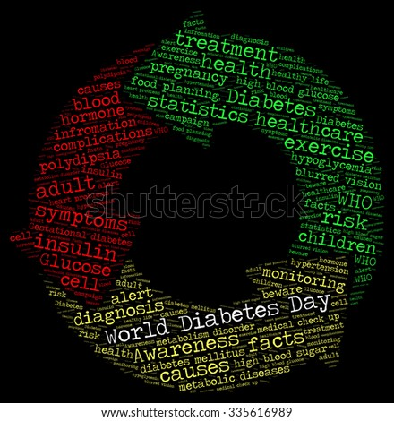 Illustration World Diabetes Day Concept Modern Stock Illustration