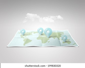 illustration world map