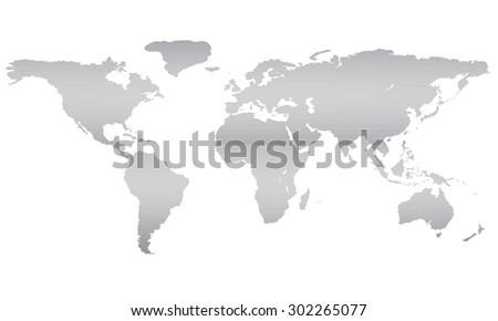 Illustration World Map Equator 3 D Polygon Stockillustration ...