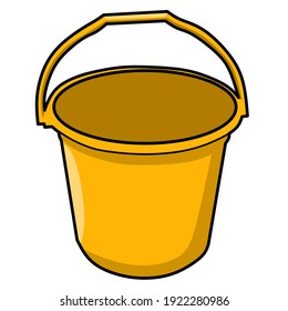 an illustration of a yellow bucket.