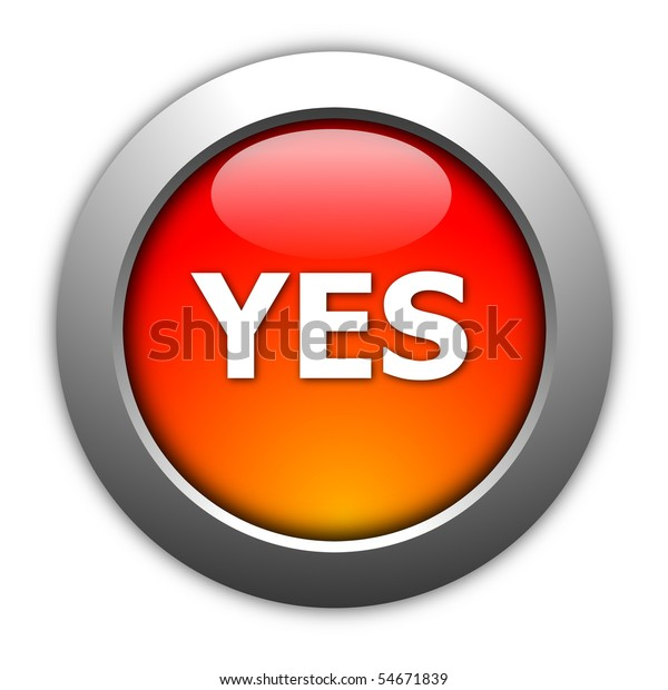 Illustration Yes No Button Internet Website Stock