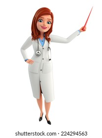Illustration of Young Doctor with stick