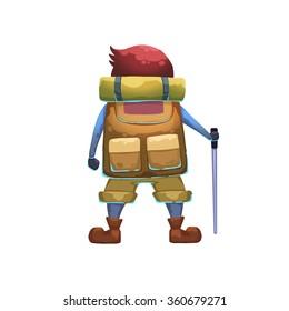Illustration: Young Explorer. Realistic Fantastic Cartoon Style Artwork, Story Character, Wallpaper, Wish Card Design