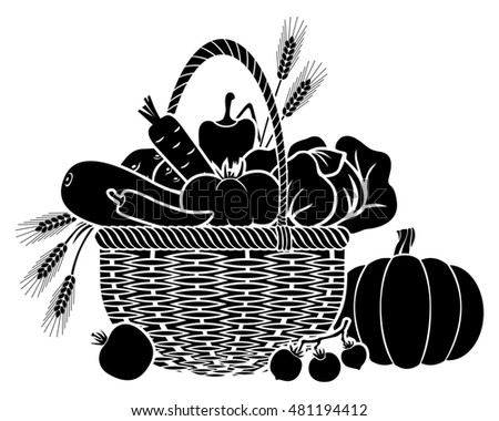 illustrations basket vegetablesのイラスト素材 481194412 shutterstock