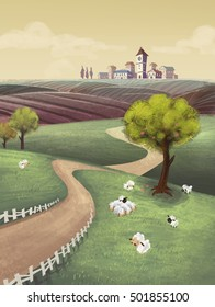 illustrations countryside