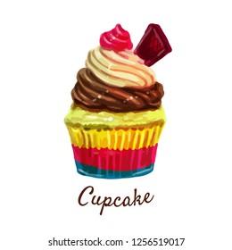 illustrations of Cupcake isolated on white background