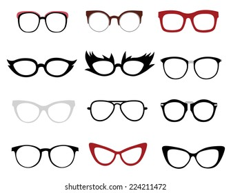 a82f280e97 Illustrations of stylish and funny glasses