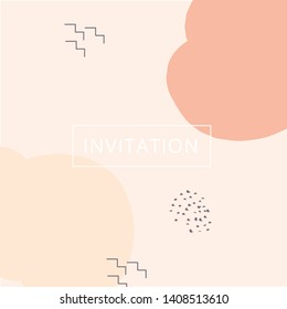 illustrative template for a modern sleek and mild invitation card or birthday card.