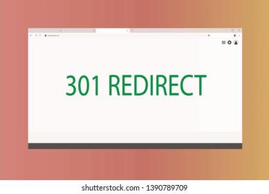 Illustrtion of 301 Redirect HTTP Status Code
