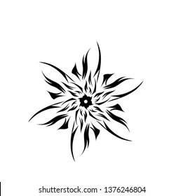 ilustrasi mandala abstrak