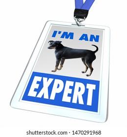Im an Expert Dogs Pets Animals Badge Employee 3d Illustration