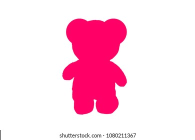 image of Bear toy sign on white background.