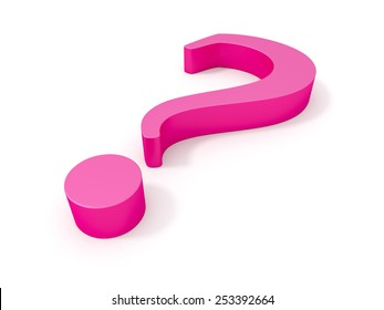 An image of a big pink questionmark