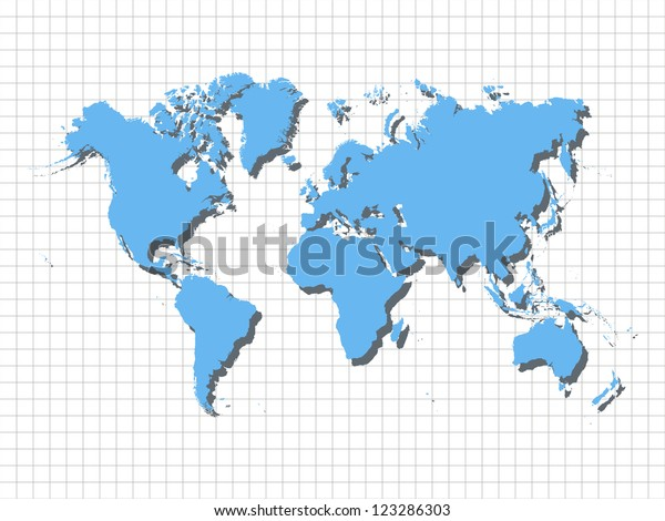 Image of a blue world map on the mesh background