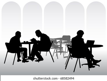 image of business people for lunch at a restaurant