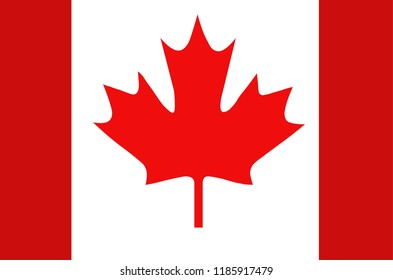 Image of Canada, Canadian Flag on white background.Concept