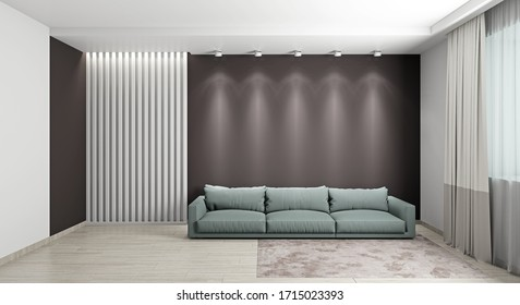 Image couch in the light room 3D-rendering