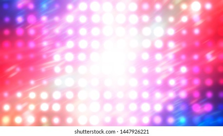 Image of defocused stadium lights. Abstract red background with colorful lights. illustration digital.