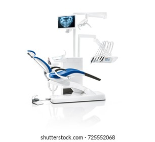 The image of dental chair.3D rendering dentist chair