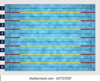 Swimming Pool Lane Lines Stock Illustrations, Images ...