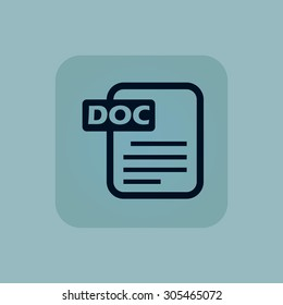 Image of document page with text DOC in square, on pale blue background