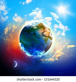 Image of earth planet. Elements of this image are furnished by NASA