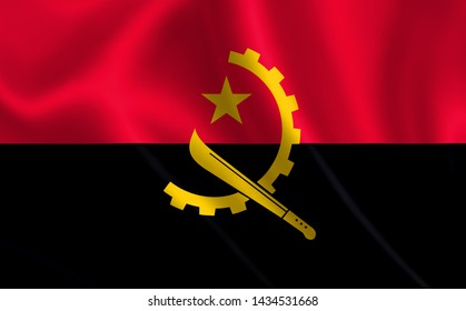 "An image of the flag of Angola. Series ""Africa"""