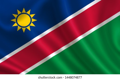 "Image of the flag of Namibia. Series ""Africa"""