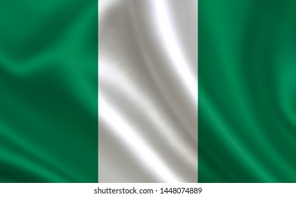 """Image of the flag of Nigeria. Series """"Africa"""""""