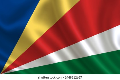 """Image of the flag Seychelles. Series """"Africa"""""""