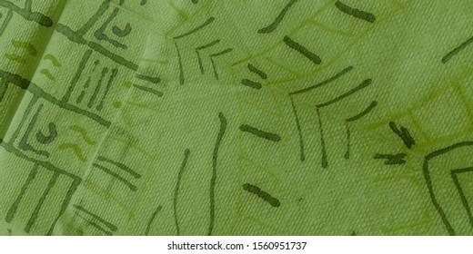 Image Geometric Pattern. Olive Elegant Geometric Print. Colorful Pattern. Colorful Abstract Geometric Illustration Paint. Green Triangular. Bricks Background.