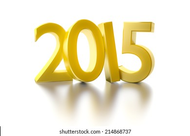 An image of a golden number 2015