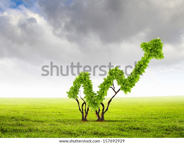 Image of green plant shaped like graph